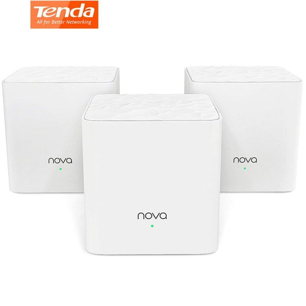 Tenda Nova Mw3 Routeur sans fil 2,4 / 5GHz à double bande du système AC1200 avec réseau de maille pour toute la maison Wifi