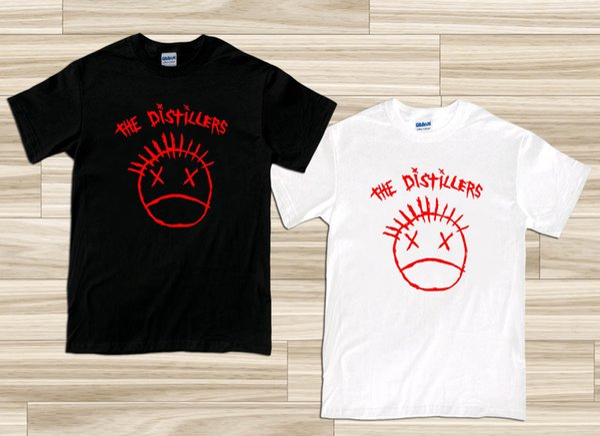 New THE DISTILLERS Punk Rock Band Logo Men/'s White T-Shirt Size S-3XL