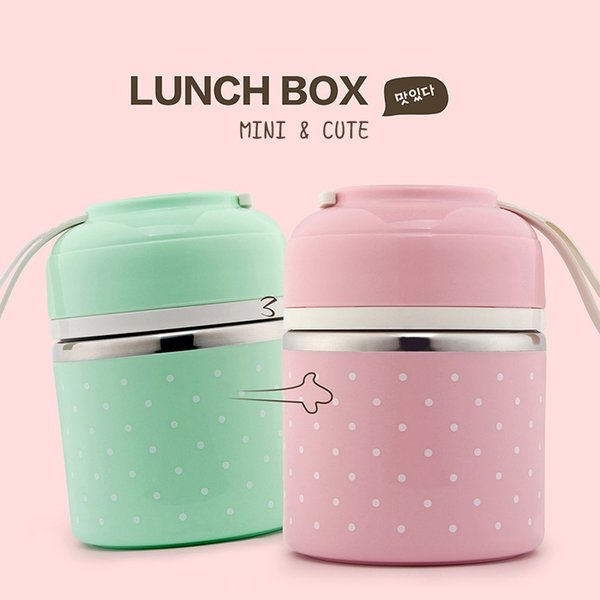 Cute Japanese Thermal Lunch Box Leak-Proof Stainless Steel Bento Box Kids Portable Picnic School Food Container Box C18112301