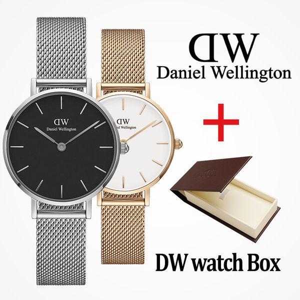2019 Üst luxurywomen 36mm 32mm erkekler 40mm moda dw Severler kadınlar çelik mesh altın erkek marka saatler montre femme relojes masculino