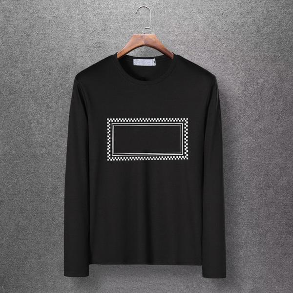 Rectángulo estampado geométrico diseñador marca hombres moda camisa de manga larga M-6XL alta calidad juvenil camisetas primavera camisetas EAR98309