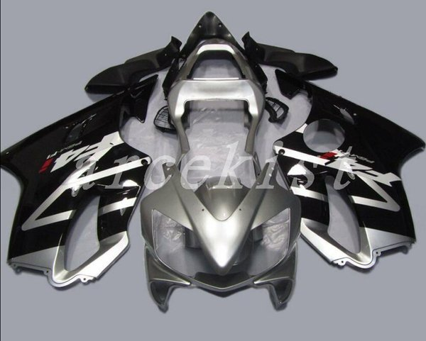 New Injection Mold ABS motorcycle bike Fairings Kits Fit For HONDA CBR600F4i 04-07 2004 2005 2006 2007 body custom Fairing set black silver