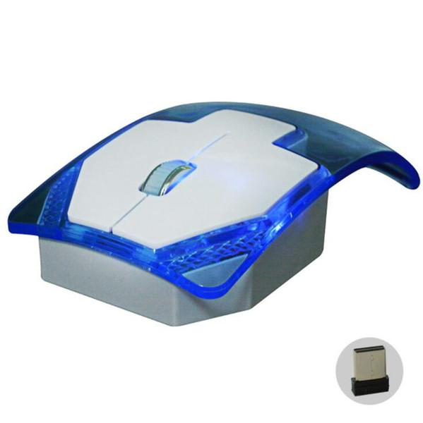 Atacado novo criativo 2.4G mouse sem fio óptico gaming mouse colorido luminoso 10 M com receptor computador notebook rede de TV escritório