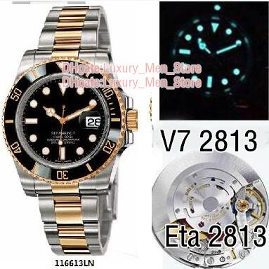Super N Factory Watches V7 2813 Automatic Movement Ceramic Bezel Sapphire Glass 40MM Black dial Diving Glide buckle Watches Luxury_men_store