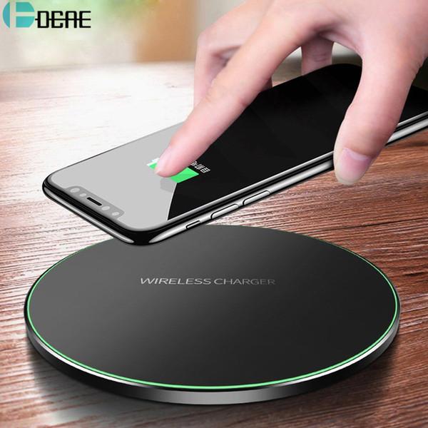 Chargeur sans fil DCAE Qi pour iPhone 8 X XR XS Max QC3.0 10W Charge rapide sans fil pour Samsung S9 S8 Note 8 9 S7 Chargeur USB