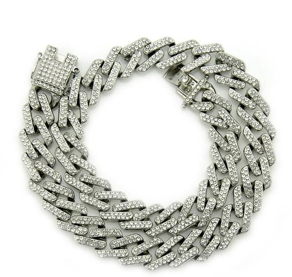 Silver(White Diamond) 18 inch