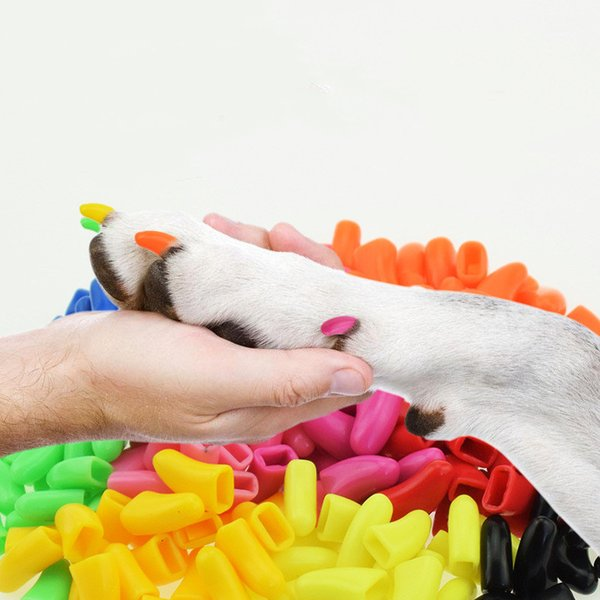 20 Pcs Dog cat Anti-scratch Nail Caps Soft Silicone Paw Nail Cover Puppy Claw Decoration Manicure Nail Art Dog Cat Supplies