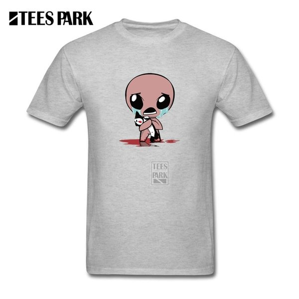 Man's The Binding Of Isaac T Shirt Round Neck Natural Cotton T-shirts Short Sleeved Funny Male Tshirt