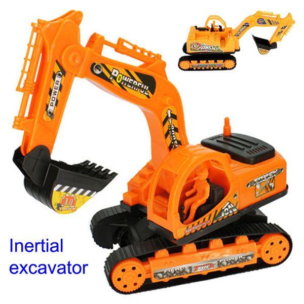 toy Inertial Excavator Kids Truck Back Plastic Beach toy Excavator Engineering Car Kids Xmas Gifts Children's Toys