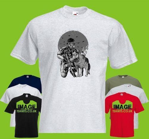 Gas Mask Mens PRINTED T-SHIRT Apocalypse Solider War Wolf Uniform harajuku Summer 2018 tshirt colour jersey Print t shirt