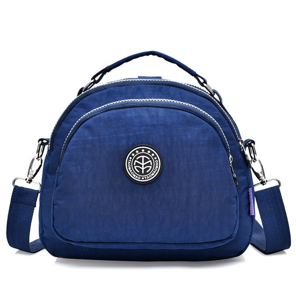 Fashion Nylon Shoulder Bags Ladies Tote School Bag Handbag Solid Waterproof Messenger Bag Female Casual Women Crossbody Bags Y19061705