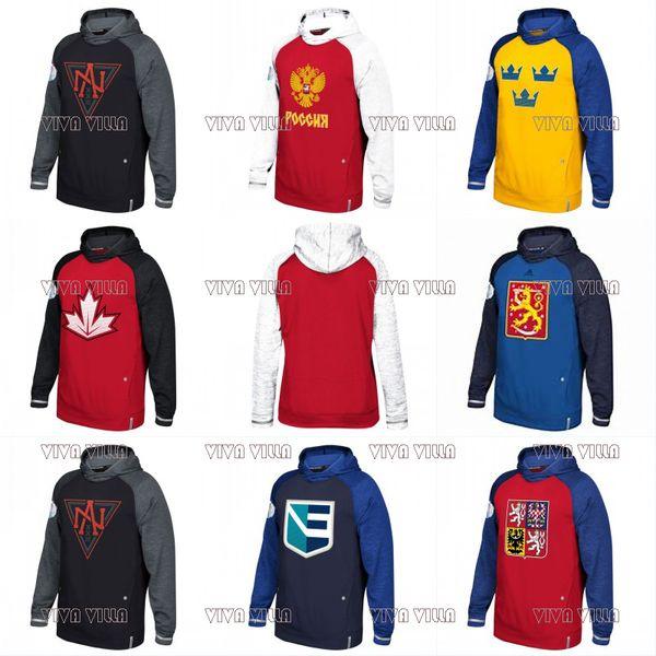 2016 WM Hoodie WM Team USA Tschechische Republik Europa Finnland Nordamerika Russland Schweden Trikots Benutzerdefiniert Beliebiger Name Beliebige Anzahl Sweatshirts