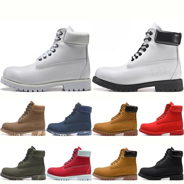 Arrivent Acheter Bottes Bottes Timberland D'hiver De Luxe Tout Noir Blanc Boots Hommes Femmes Nouvelles Militaire TBL Triple Rouge Femmes Botte Bleu 6gf7YvIby