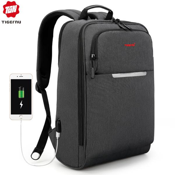 Tigernu multifonction charge USB Sac à dos Voyage Hommes 14 15,6 pouces pour ordinateur portable Sacs à dos Sac pour Cartable Adolescent pour les adolescents