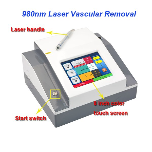 5 spot size 0.2mm 0.5mm 1mm 2mm 3mm Professional 980nm Vascular Spider Veins Remover Blood Vessels Removal Machine