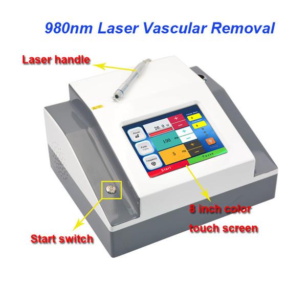 5 nokta boyutu 0.2mm 0.5mm 1mm 2mm 3mm Profesyonel 980nm Vasküler Örümcek Damarlar Sökücü Kan Damarları Temizleme Makinesi