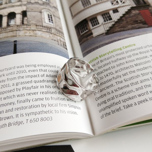Latest design 925 sterling silver jewelry simple silver golden ring for women and men as gift and dairy wearing