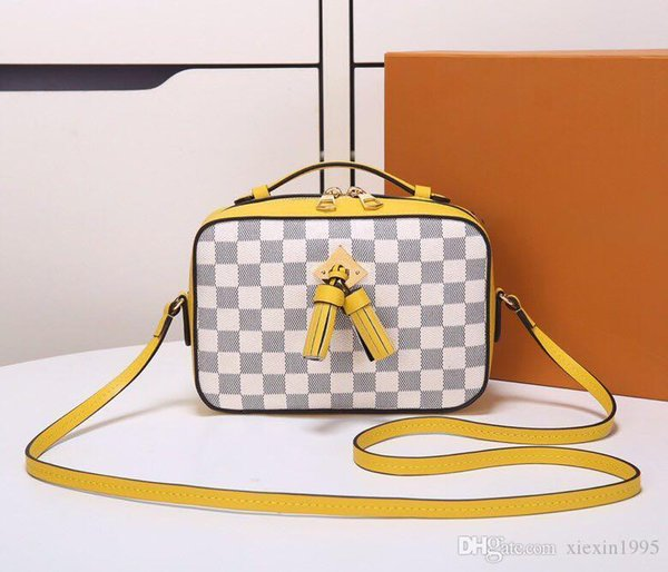 Woman Messenger Bags Tassel Bag Damier Canvas Shoulder Handbag Female Buttermilk Skin Handbags Fringed Bag Crossbody Bags Commuter Bagn40154