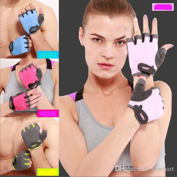 New Women/Men Anti-skid Breathable Gym Gloves Body Building Training Sport Dumbbell Fitness Exercise Weight Lifting Gloves SC073