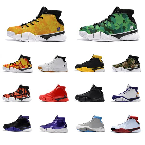 Cheap Mens Kobe 1 Protro basketball shoes for sale Purple Grey Championship MVP New arrival KB Generation high top sneakers boots with box