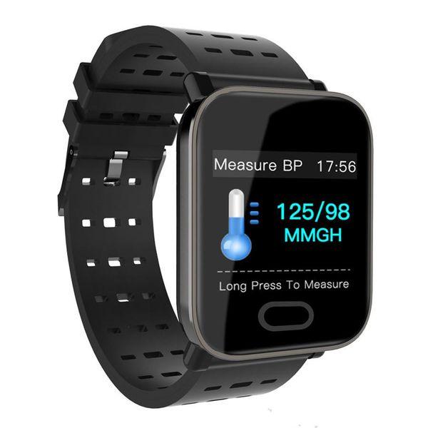 Neue Ankunft A6 Fitbit Sport Smart Band Blutdruck Smart Armband Pulsmesser Kalorien Tracker IP67 Wasserdichte Armbanduhr