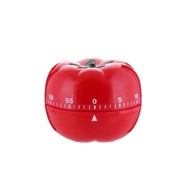 Temporizador mecânico temporizador de cozinha temporizadores forma de tomate abs para cozinha em casa 60 minutos de alarme contagem regressiva ferramenta