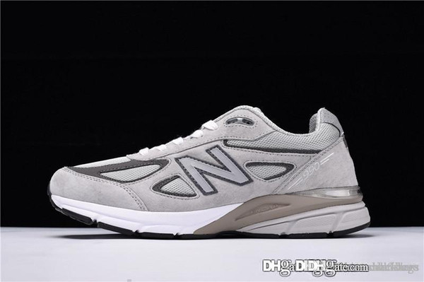 New 2018 Top Quality Balance M990GL4 990 Made in the USA Gray Castle Rock Mens Running Sneaker in USA M990V With Box