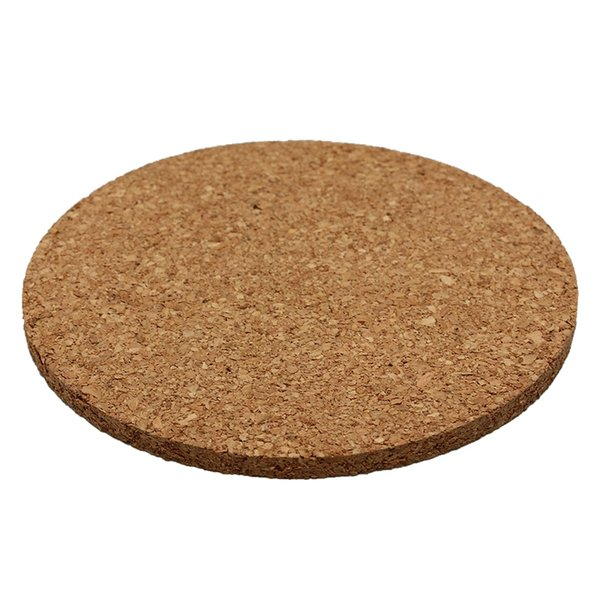 AFBC 6pcs Plain Round Cork Coasters Coffee Drink Cup Mat Placemats Wine Table mats