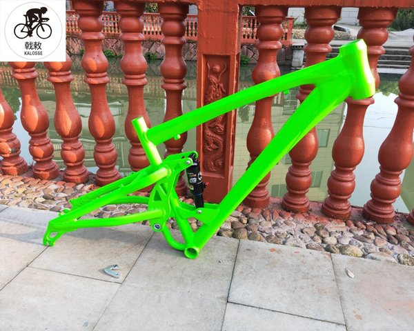 Kalosse DNM 165mm travel MTB frame Full suspension DIY colors 26*17 inch Bicycle aluminum alloy frame ,