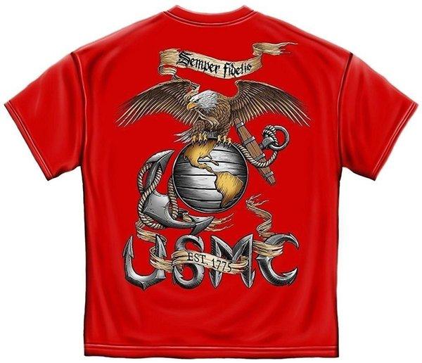 Camicie da uomo casual in cotone 100%, mostra il tuo orgoglio con le nostre t-shirt unisex USMC Eagle