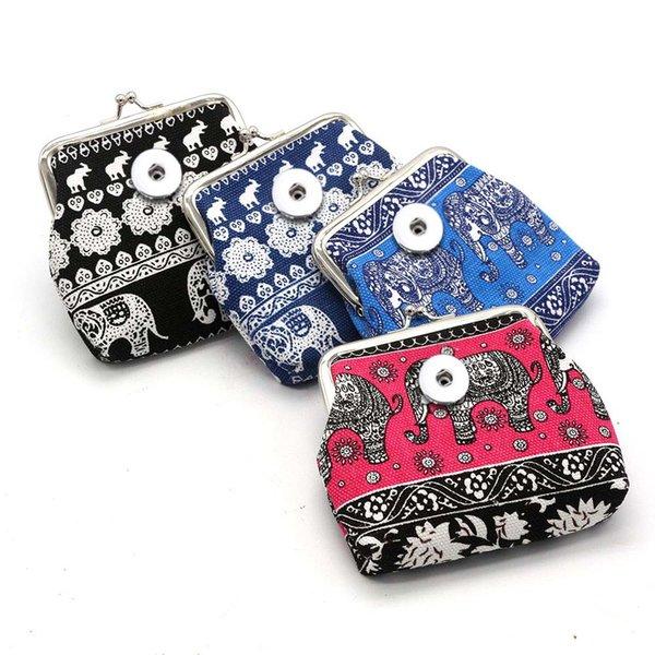 Mode Eule Pu Leder Brieftasche 021 Mini Tasche Brieftasche 18mm Druckknopf Tasche Geldbörse Charme Austauschbare Schmuck Für Frauen Jugendliche Geschenk