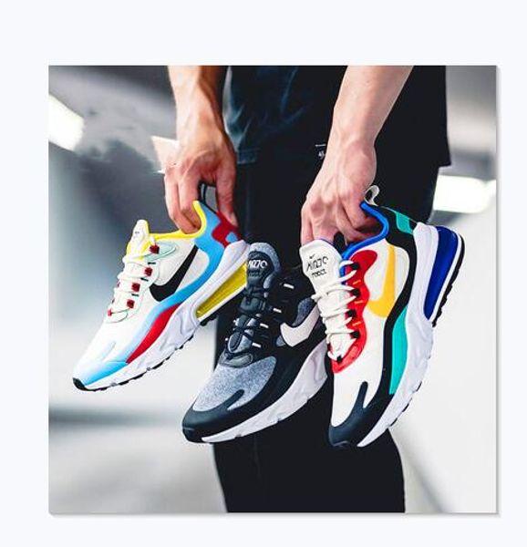 top popular Men Women Air 2019 Max 270 React Cushion Running shoes 270s Bleached Volt Triple Black White Sports Sneakers 27C TN Plus Trainer 2020