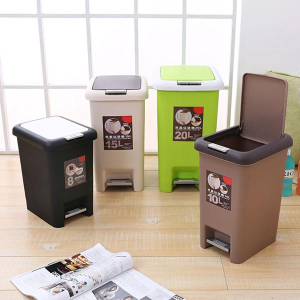 Großhandel Kunststoff Fuß Mülleimer Büro Wohnzimmer Abfalleimer Küche  Presse Gürtel Abdeckung Reinigung Mülleimer Von Fanxywave, $7.34 Auf ...