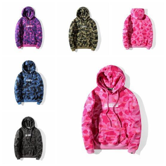 2018 осень зима весна новое поступление любовник камуфляж печать плюс кашемировые толстовки мужские случайные пуловер с капюшоном куртки топы