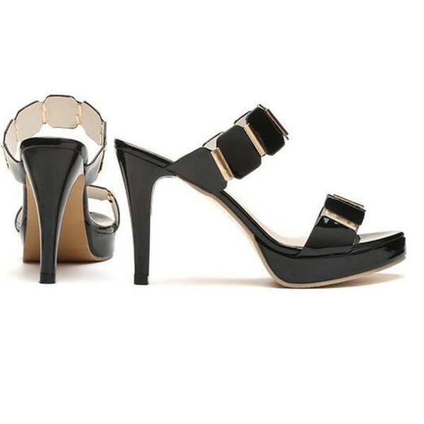 2019 Summer Elegant Women Super High Heels Sandals Shoes Fashion Ladies Thin Heels Platform Peep Toe Slip on Shoes Heels 9cm