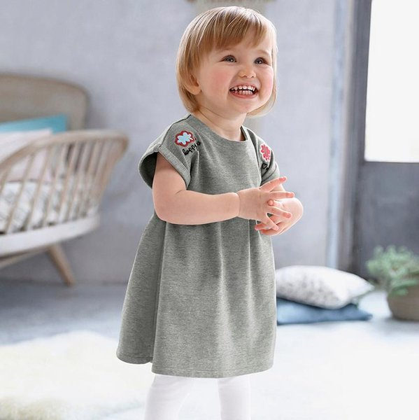 Kids Designer Clothes Summer dresses girls2-7years Party costumes for girl clothes dresses baby clothing Made In China Mixed Sizes Wholesale