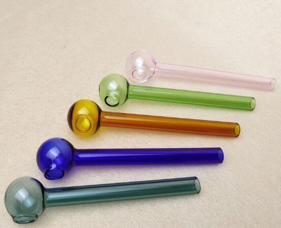 10 cm Kurz Farbige Glasbrenner Mini Rauchen Griff Rohre Rauchen Rohre Hohe Qualität Brenner Ölbrenner Kostenloser Versand