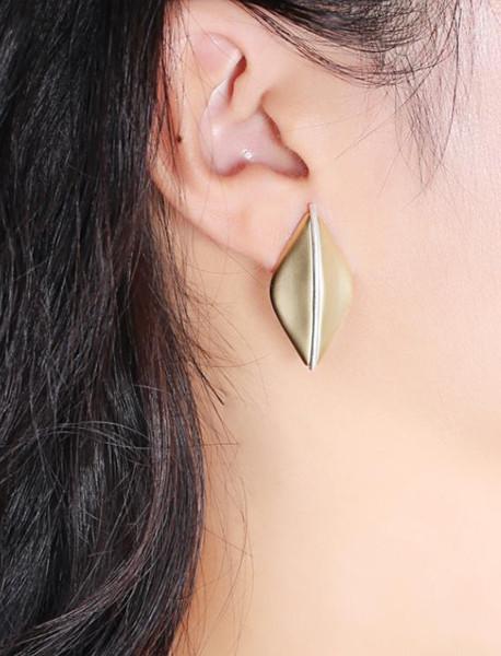 Matte boucles d'oreilles de melon d'or