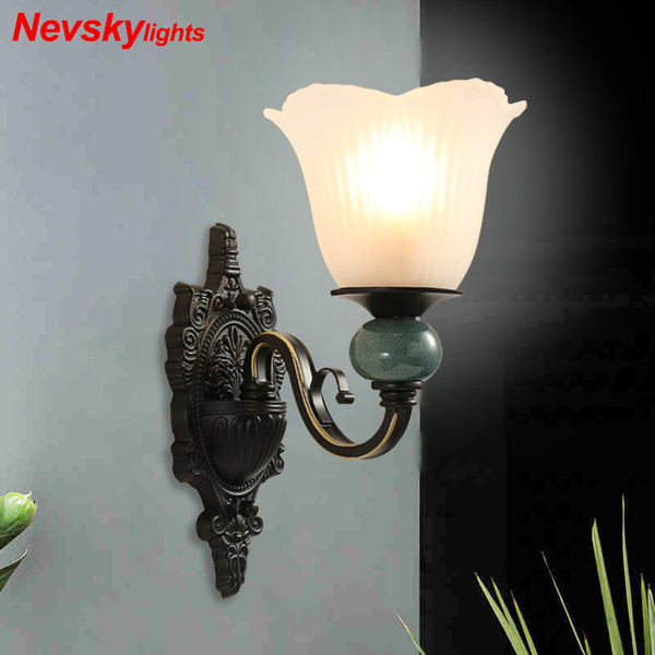 classic glass sconces wall lamp for home glass arandela wall led lights modern bedside lamps for bedroom wandlamp fixtures