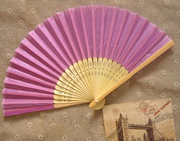 Pink Wedding Silk Fan,Bride Hand Fan with bamboo ribs,Craft Fan wedding bridal shower favor party gift
