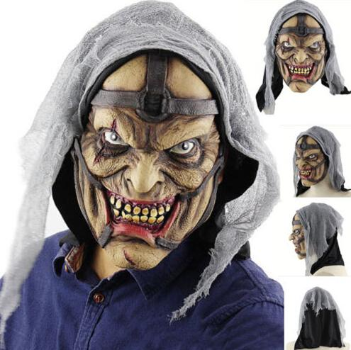 scary halloween horrible grimace party masks creepy realistic wizard mask cosplay costumes trick or treat halloween party masks (520204521) photo