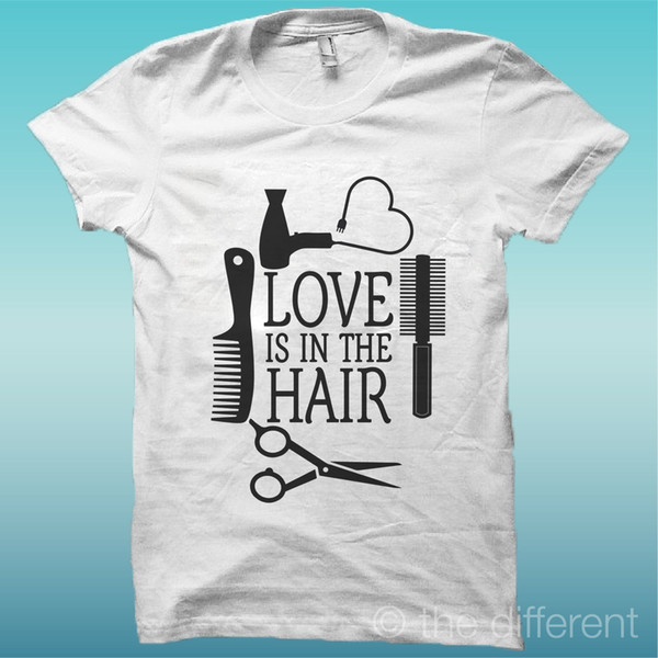 T-Shirt Uomo Love Is In The Hair Parrucchieri Idea Regalo fear cosplay liverpoott tshirt mens pride dark t-shirt