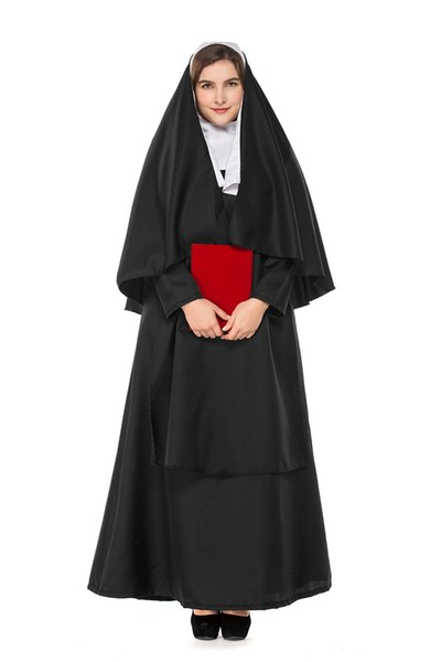 Plus Size Jesus Christ Virgin Mary Theme Costume Large Size Nun Cosplay  Fancy Dress Halloween Role Play Uniform Couples Costume Boys Costumes From  ...