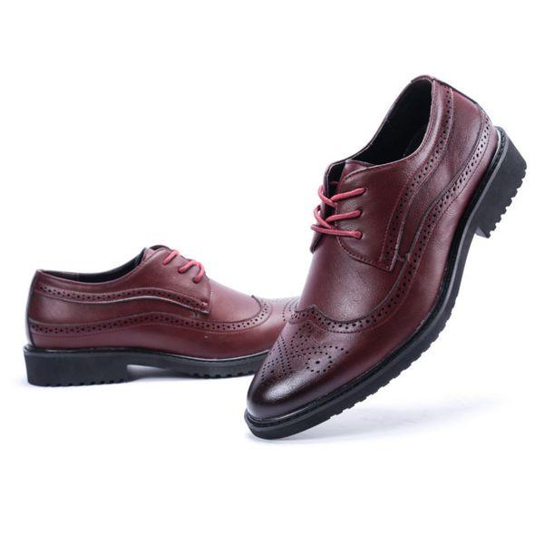 Temporada Corrigir o Vestido Homem Sapatos de Couro Tendência de Negócios de Negócios Escultura Pano Locke Sapatos Masculinos Maré