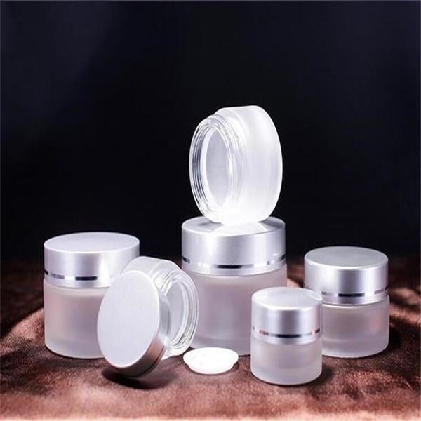 5g 10g 15g 20g 30g 50g Milchglas-Kosmetikglas Tragbare Probenflaschen Lagerung Reise-Verpackungsbehälter für Lidschatten Creme