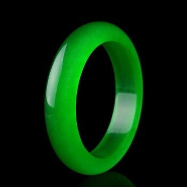 Jade braccialetto verde naturale genuino braccialetto di fascino di gioielli Accessori di moda Mano-Intagliata regalo fortunato amuleto per le donne i suoi uomini