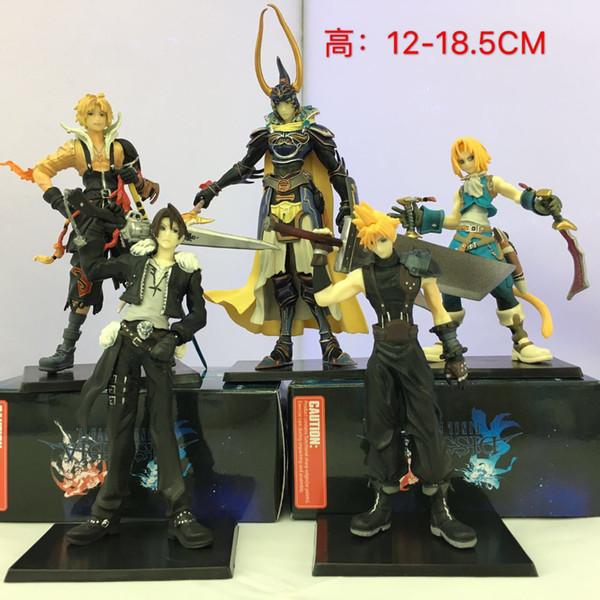 Cinco Bonecos da Primeira Geração Final Fantasy O Soldado da Luz de Claude, Tedas Corleone Hart