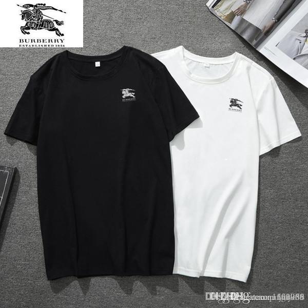 2019 nouvel été à manches courtes demi-manches MASCULINE undershirt de Chemises jeunes hommes T-shirt