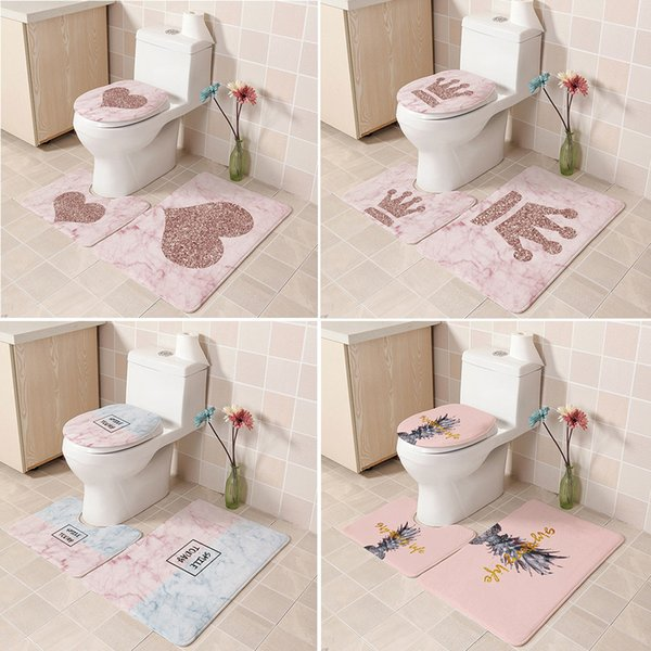 Strange 2019 Flannel Print Non Toilet Cover Seat European Pattern Soft Bathroom Bath Mat Floor Rug Carpet With Slip Back T7 Q190529 From Yiwang08 22 83 Ncnpc Chair Design For Home Ncnpcorg