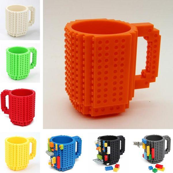 Drinkware Building Blocks Becher DIY Block Puzzle Becher 350ml Build-On Brick Creative Becher Kaffeetassen Tasse 7005